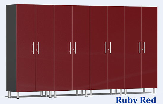 Ulti-MATE 2.0 Series UG22640X - 12' Wide 4-Piece Red Tall Tower Cabinet Kit - Wall To Wall Storage