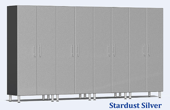 Ulti-MATE 2.0 Series UG22640X - 12' Wide 4-Piece Silver Tall Tower Cabinet Kit - Wall To Wall Storage