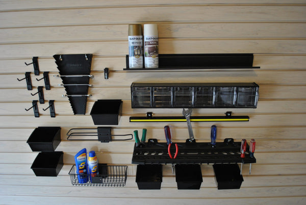 "Slatwall ""Work Center"" Storage Accessories Kit - Wall To Wall Storage"