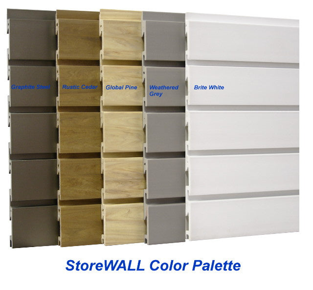 storeWALL Slatwall Heavy-Duty 4 foot Panels - Pack of 30 sq. ft. - Wall To Wall Storage
