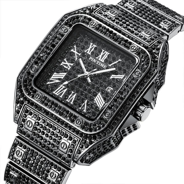 Iced Out men square watch - FashionKila.com