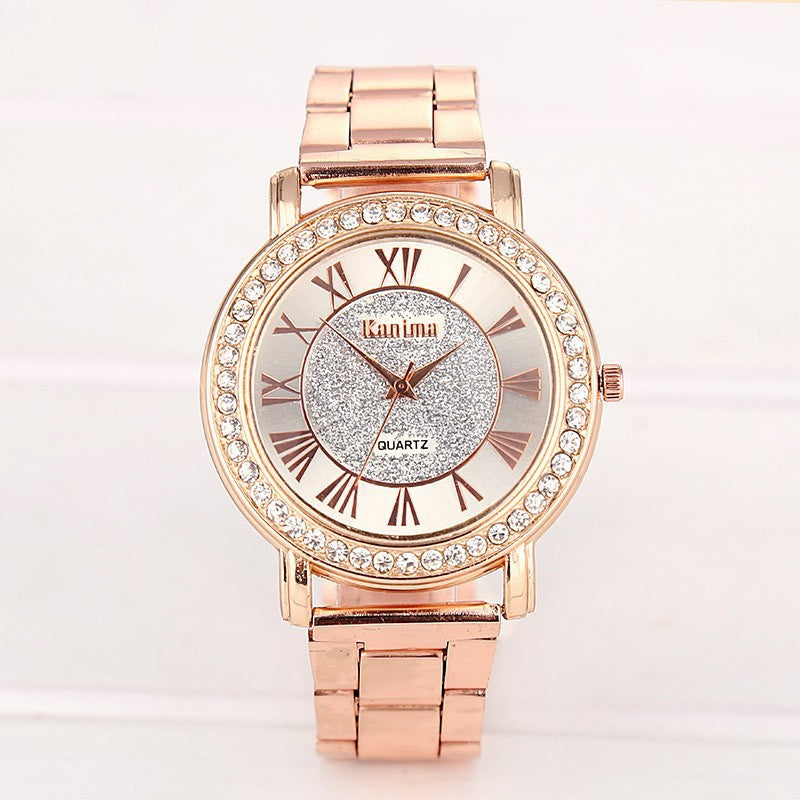 Thalya Gold Quartz  Watch - FashionKila.com