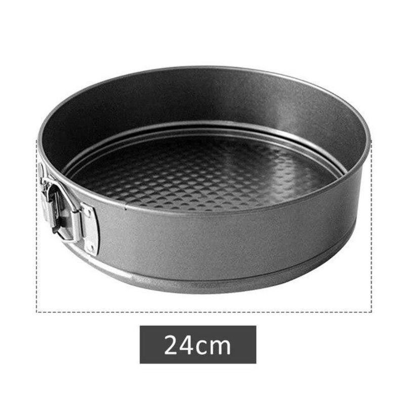 12/16/20/24CM Baking Inser Round Baking Mold Carbon Steel Bulge Non-stick Cake Live Bottom Pull Buckle Detachable Tray Cake Tool