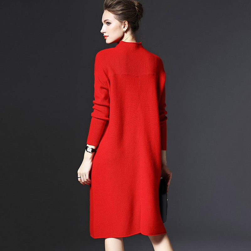 Women's Plus Size Going out Weekend Casual Sweater Dress - FashionKila.com