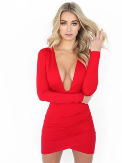 Women's Daily Elegant Slim Sheath Dress - FashionKila.com