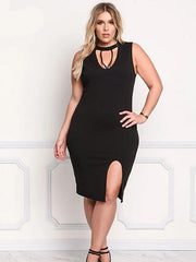 Women's Bodycon Dress Black-Shopvoypa