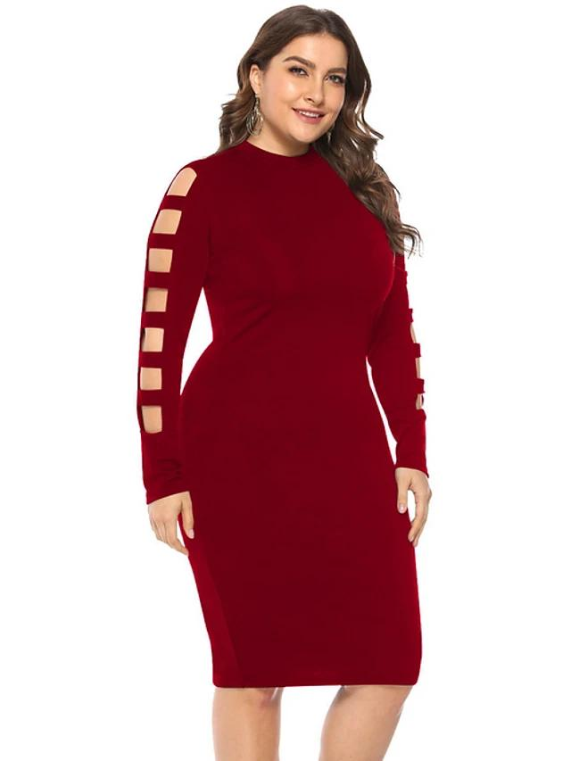 Women's Daily Basic Slim Bodycon Sheath Dress - FashionKila.com