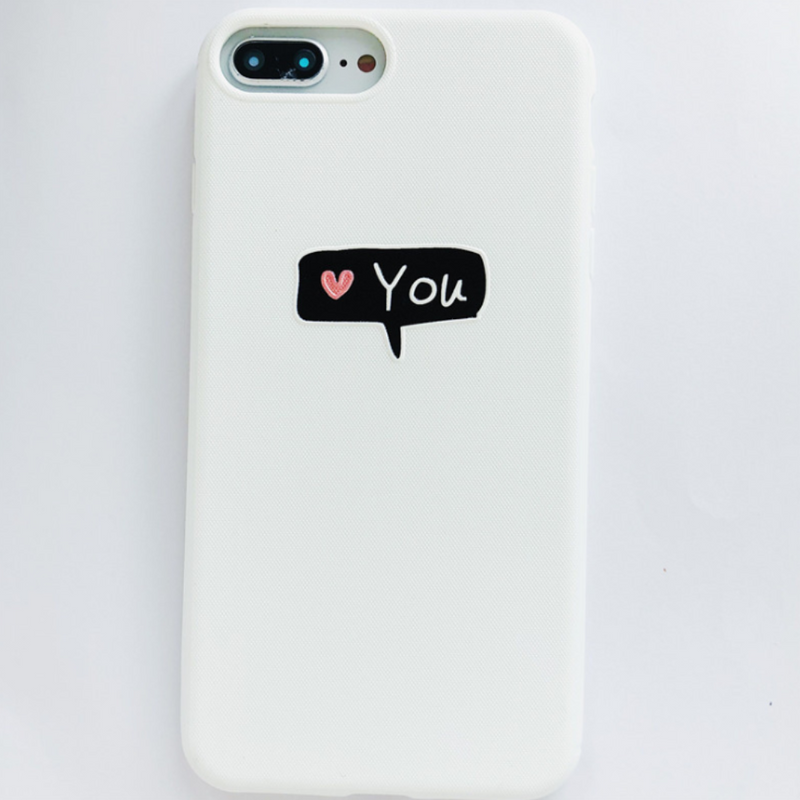 Thin Matte PC Case For iPhone 6 6s Plus Love Heart Back Cover For iPhone X 8 7 Plus Letter Hard Phone Shell Cases