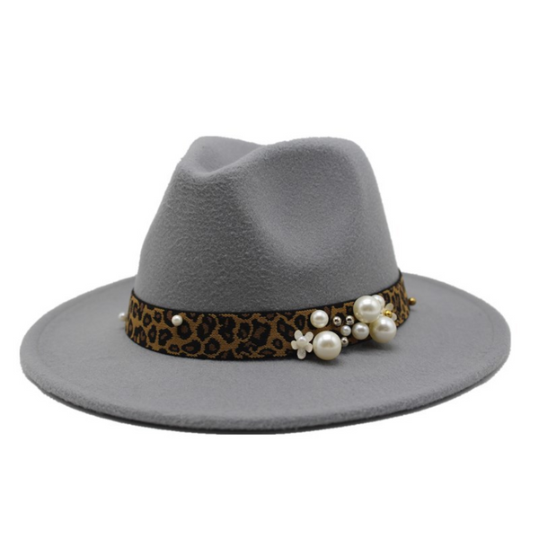 Winter wool Fedoras For Women Wide Brim Felt Hat