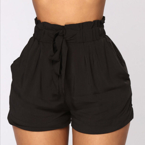Elastic High waist Shorts - FashionKila.com
