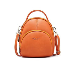 Multi-unction leather backpack 2 - FashionKila.com