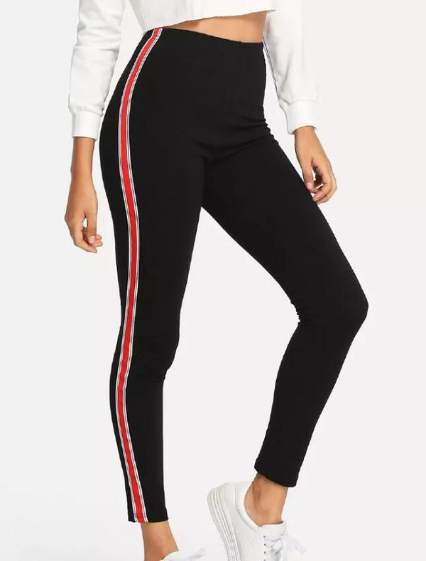 Stripe Tape Side Jeans - FashionKila.com