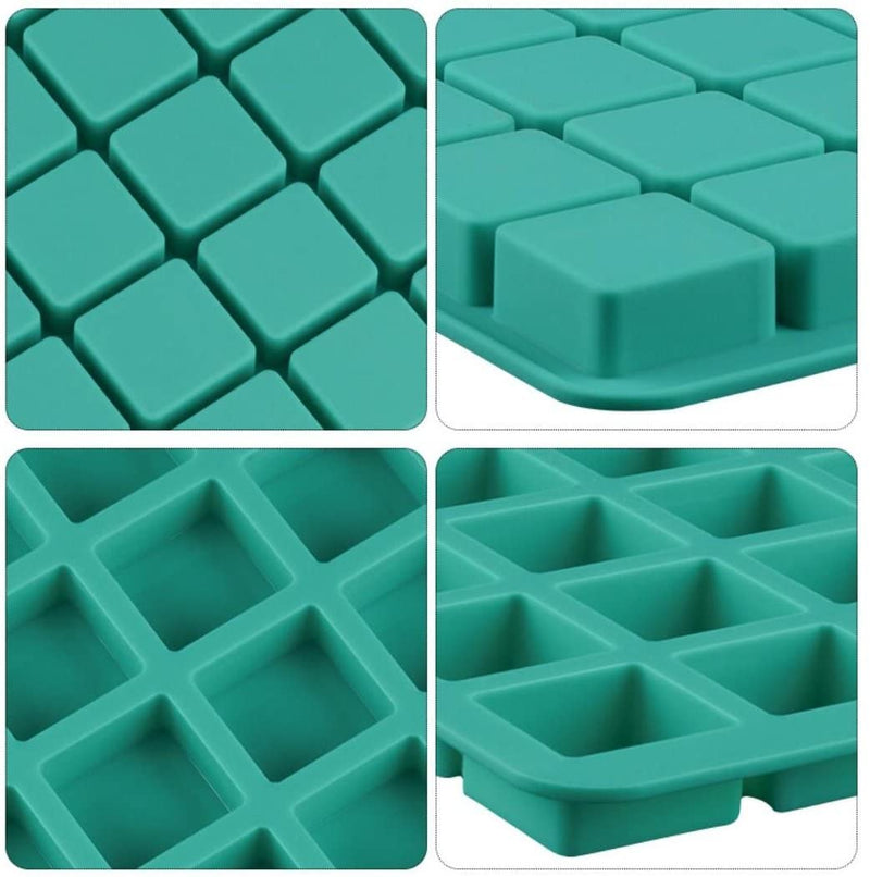40-Cavity Square Caramel Candy Silicone Molds,Chocolate Truffles Mold,Whiskey Ice Cube Tray,Grid Fondant Mould,Hard Candy Mold Pralines Gummy Jelly Mo
