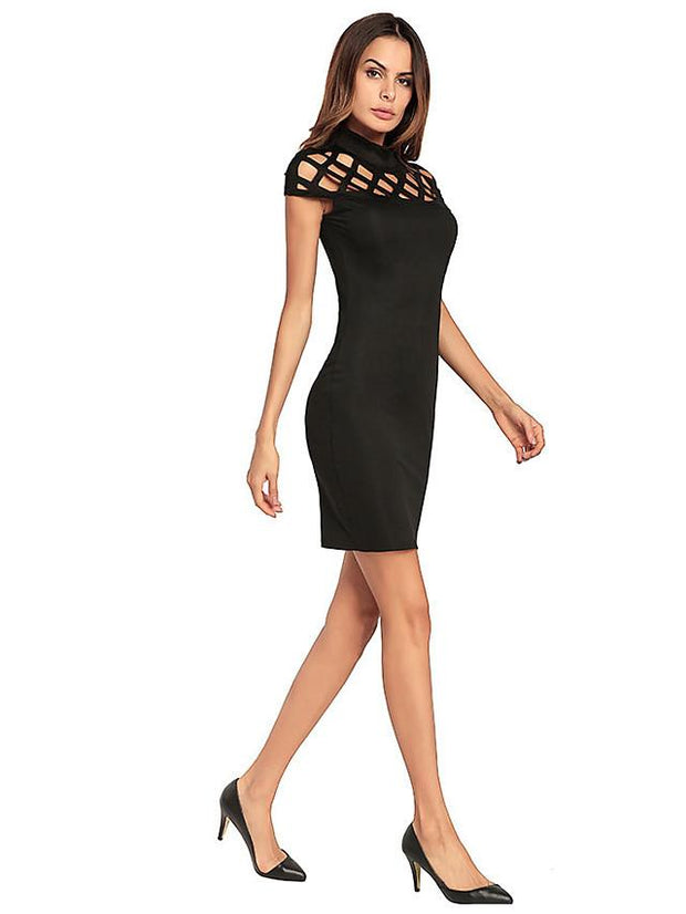 Women's Cut Out Party Slim Bodycon Dress-Shopvoypa
