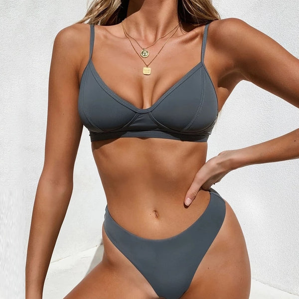 New brazilian push up bikini Set - FashionKila.com