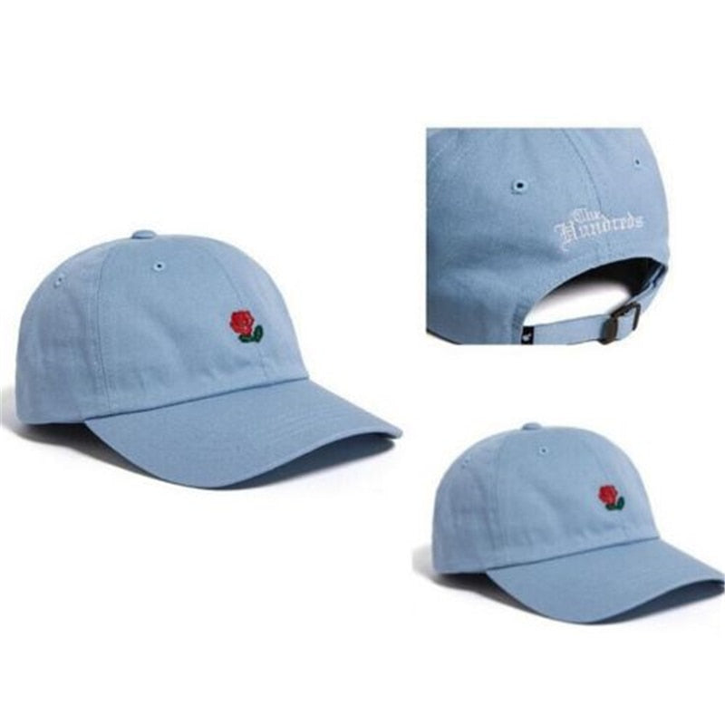 The Hundreds Rose Embroidered Hat - FashionKila.com