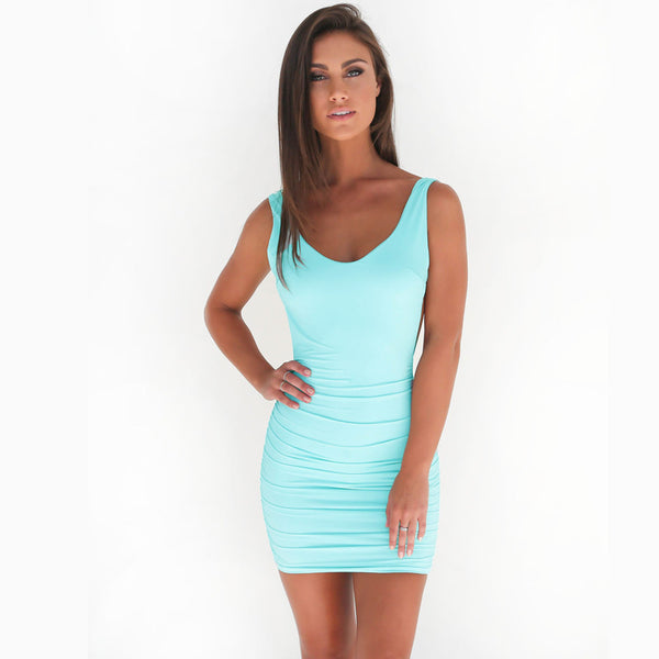 Club backless summer dress - FashionKila.com