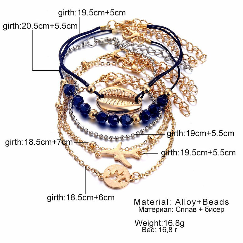 Multilayer pendant bracelet set charm jewelry - FashionKila.com