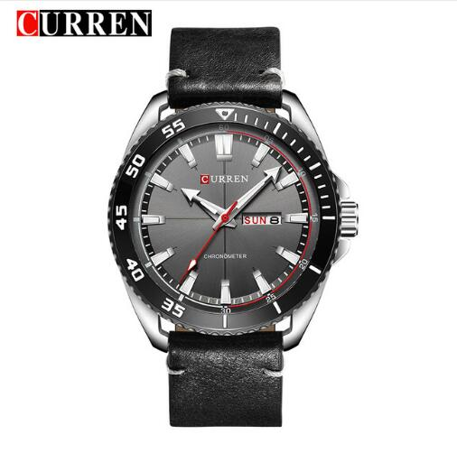 CURREN Leather men watch - FashionKila.com