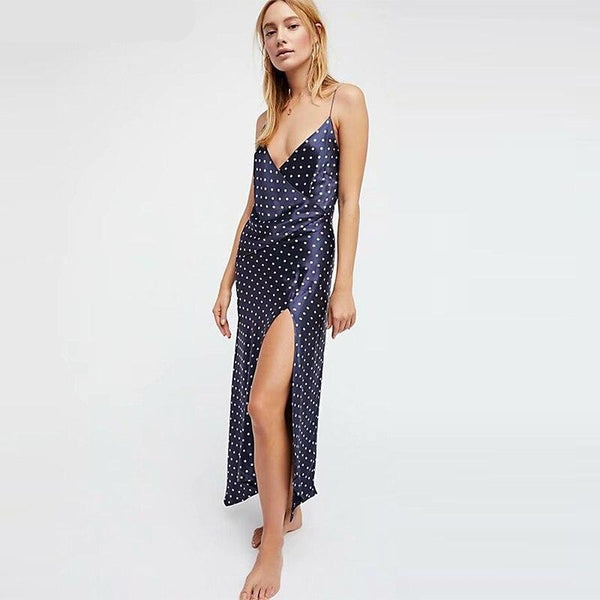 Elegant dot summer spaghetti dress - FashionKila.com