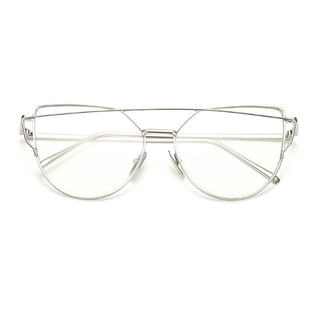 Twin-Beams metal eyeglasses - FashionKila.com