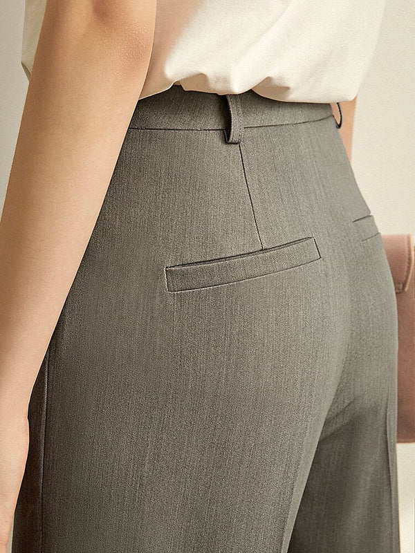 High Waist Slim Straight Pants - FashionKila.com