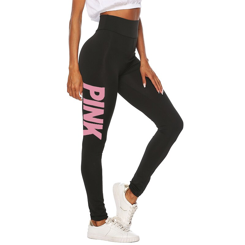 PINK letter printing Leggings Push Up - FashionKila.com
