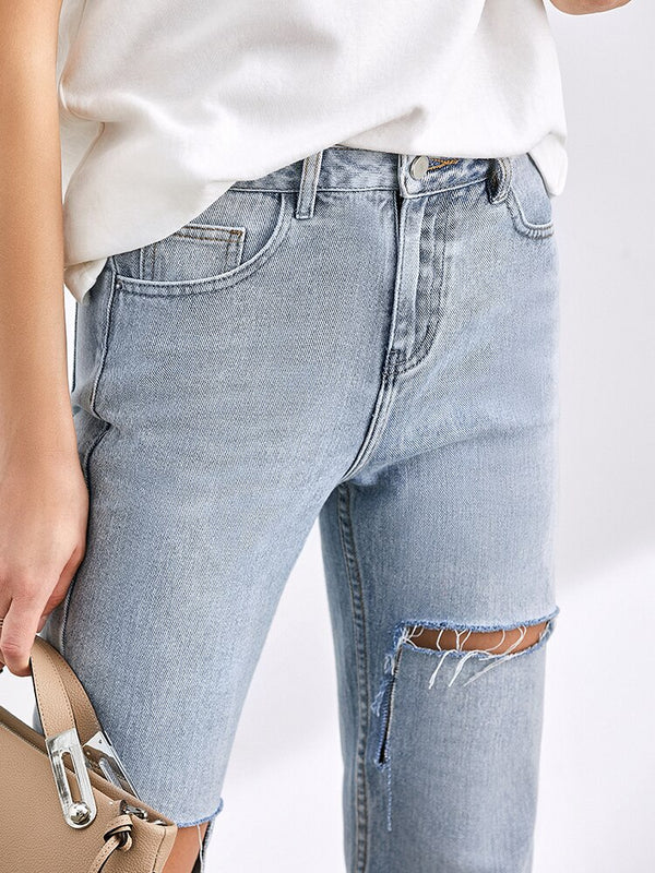 Casual High Waist loose Jeans - FashionKila.com