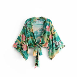 Top Rayon Bohemian Sashes Wrap - FashionKila.com