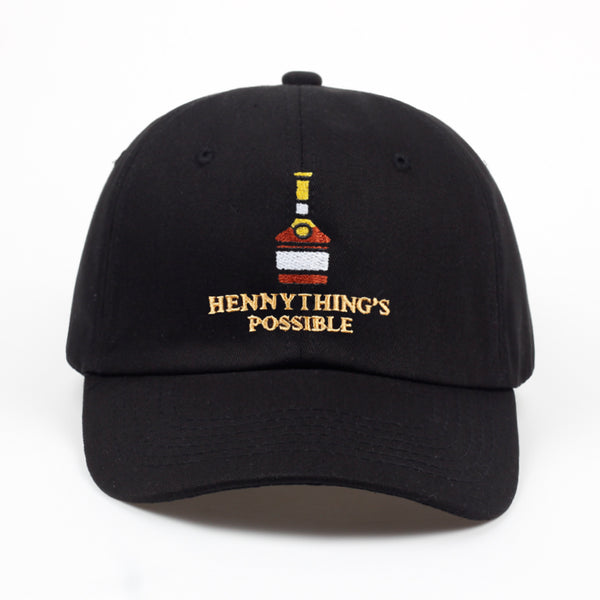Henny Wine bottle embroidery Dad Hat - FashionKila.com