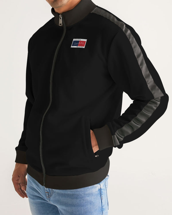 Men's Stripe-Sleeve Track Jacket - FashionKila.com
