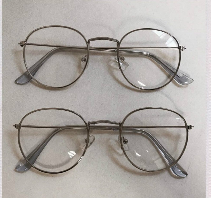 Optical metal frames round glasses - FashionKila.com