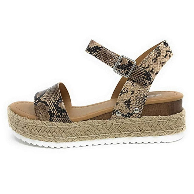 Leopard Wedges Sandals - FashionKila.com