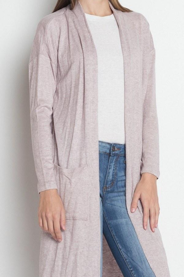 Long Sleeve Pocket Cardigan - FashionKila.com