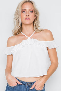 Ruffle Layer Halter Top - FashionKila.com