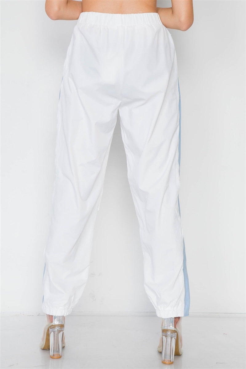 Colorblock Windbreaker Jacket Pant Set - FashionKila.com