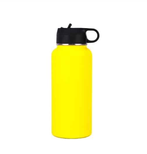 Hydro Flask Water Bottle - Stainless Steel & Vacuum Insulated - Wide Mouth 2.0 with Leak Proof Flex Cap - 32oz/40oz, Cobalt - FashionKila.com