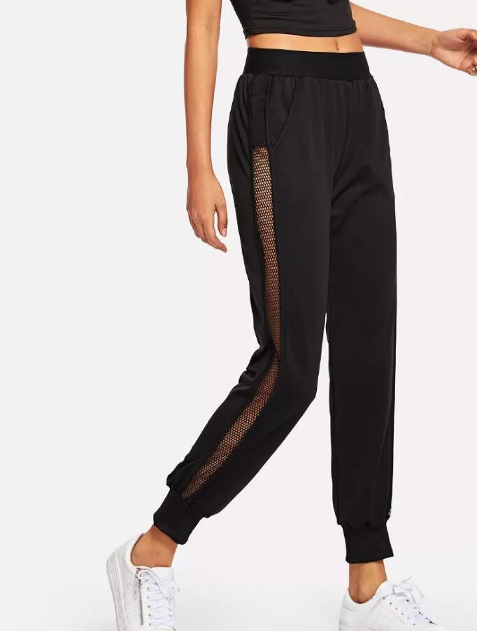 Mesh Webbing Trousers Sports Casual Color Pants - FashionKila.com