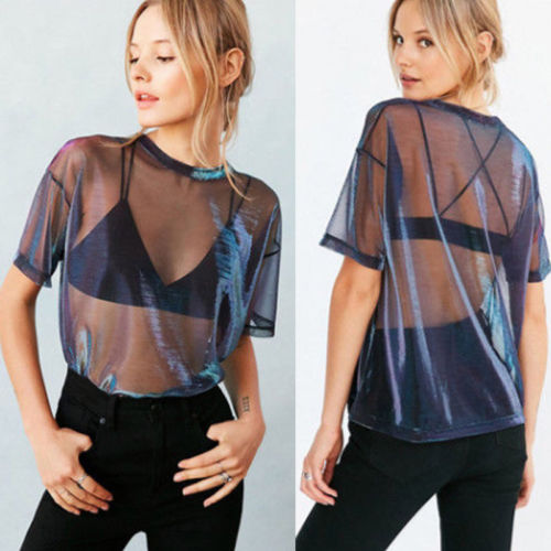 Women mesh t-Shirt - FashionKila.com