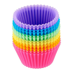 Reusable Silicone Baking Cups Muffin and Cupcake, 12pcs/Set - FashionKila.com