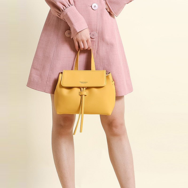 Bucket bolsa leather hand bags - FashionKila.com