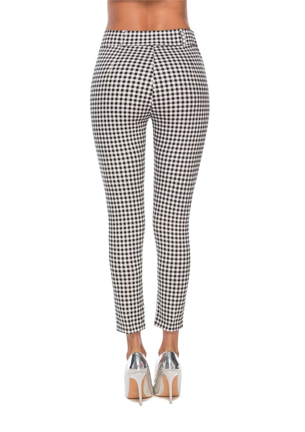 Vintage high waist plaid pants - FashionKila.com