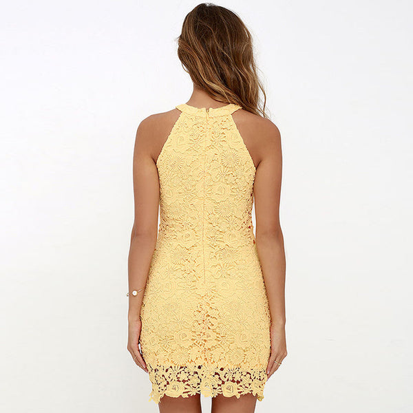 Sleeveless pencil lace dresses - FashionKila.com