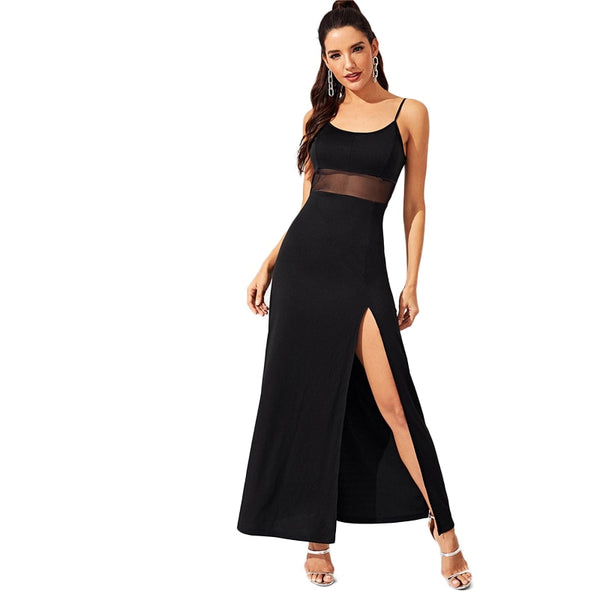 Sleeveless bodycon party maxi dress - FashionKila.com