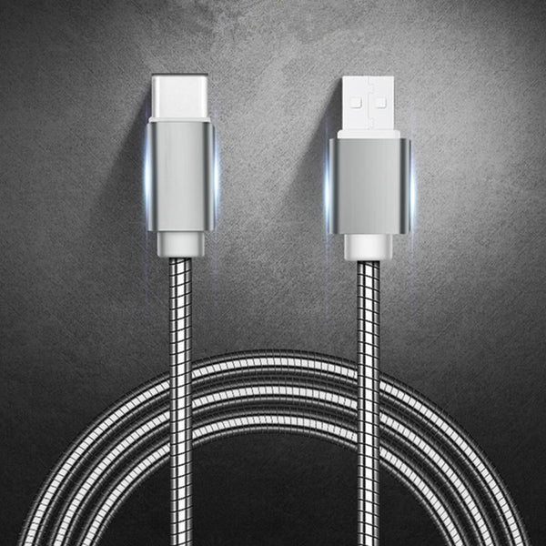 Heavy Duty Metal Braided USB Charger Cable for IPhone X Xr 7 6 Type C for Samsung Note 9 S10 S9 S8 Data Cable for Micro 2A FAST - FashionKila.com