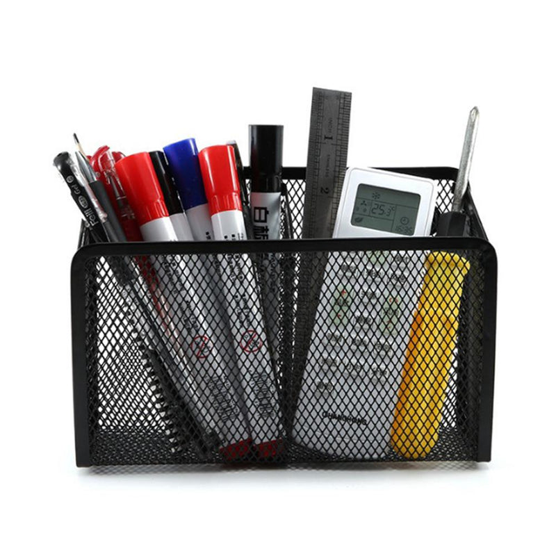 Magnetic Pencil Holder -Black Generous Compartments Magnetic Storage Basket Organizer - FashionKila.com