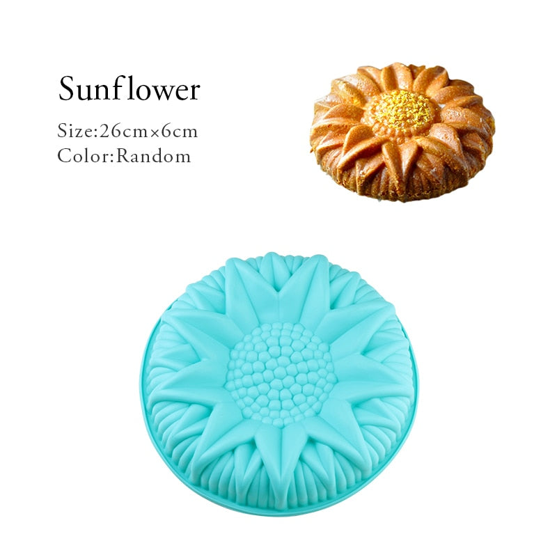 Random Color Silicone Cake Round Shape Mold Kitchen Bakeware DIY Desserts Baking Mold Mousse Cake Moulds Baking Pan Tools - FashionKila.com
