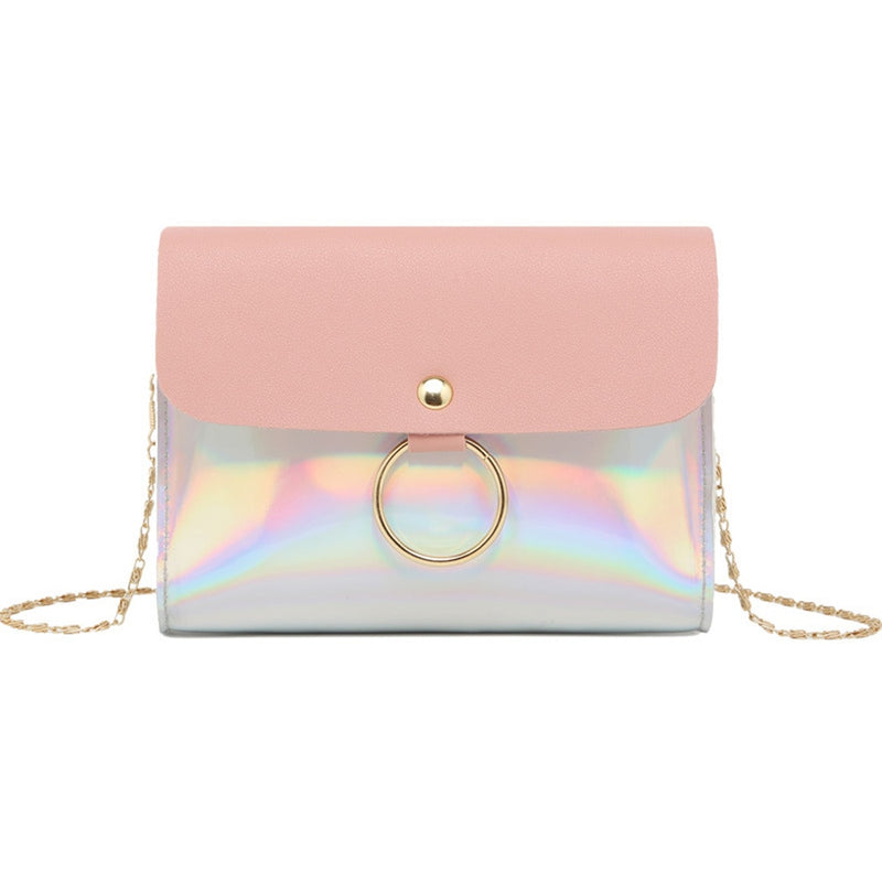 Laser Crossbody Bag For Women Chain Mini Shoulder Bag Circle Small Messenger Bag Ladies Handbags and Purses evening clutch bags