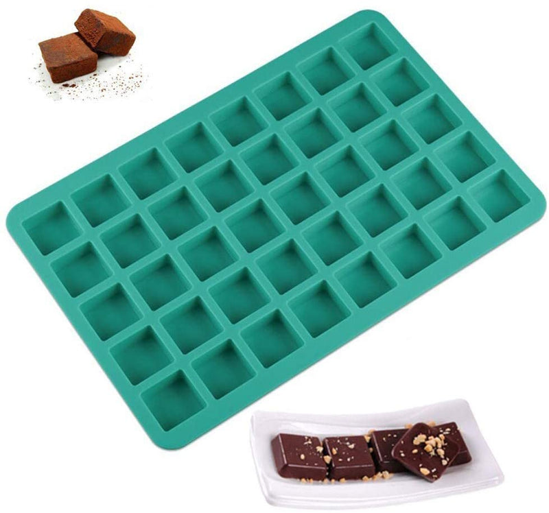 Home Kitchen Cake Mold Cavities Cube Square Caramel Candy Silicone Chocolate Truffles Jelly Ice Tray Mould Bake Decorating Tool