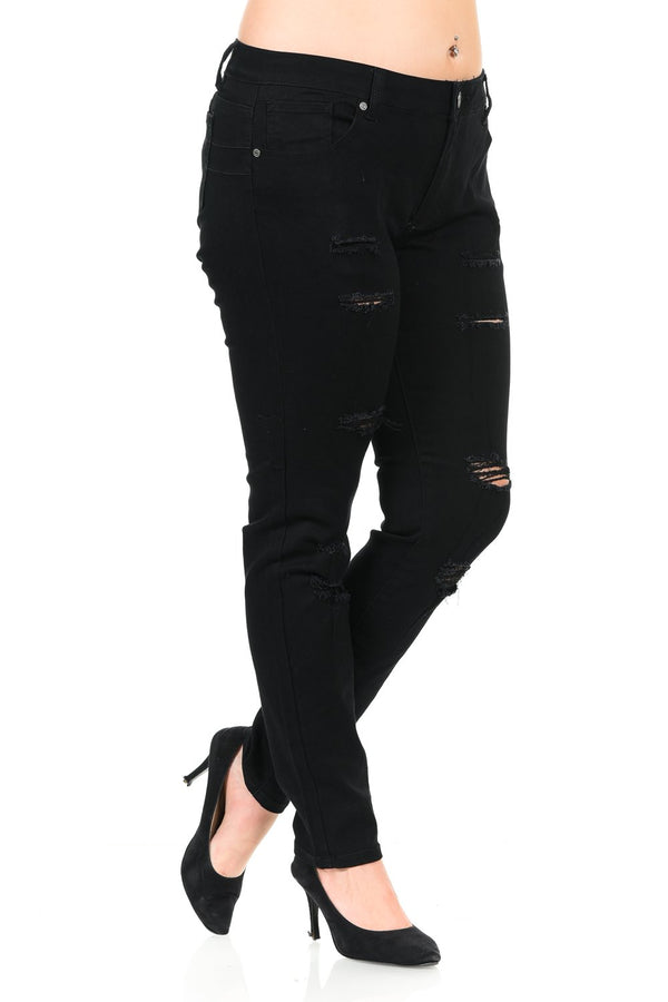 Pasion Women's Jeans - Plus Size - High Waist - Push Up - Style CH089 - FashionKila.com
